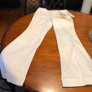 White flare white dress pants
